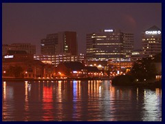 Wilmington DE skyline by night