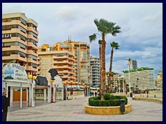 Calpe - North part 10 - skyline from Partido La Fossa beach promenade